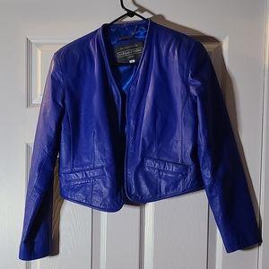 Royal Blue genuine leather jacket